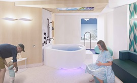 Artist impression of the Fiona Stanley Hospital Family Birth Centre