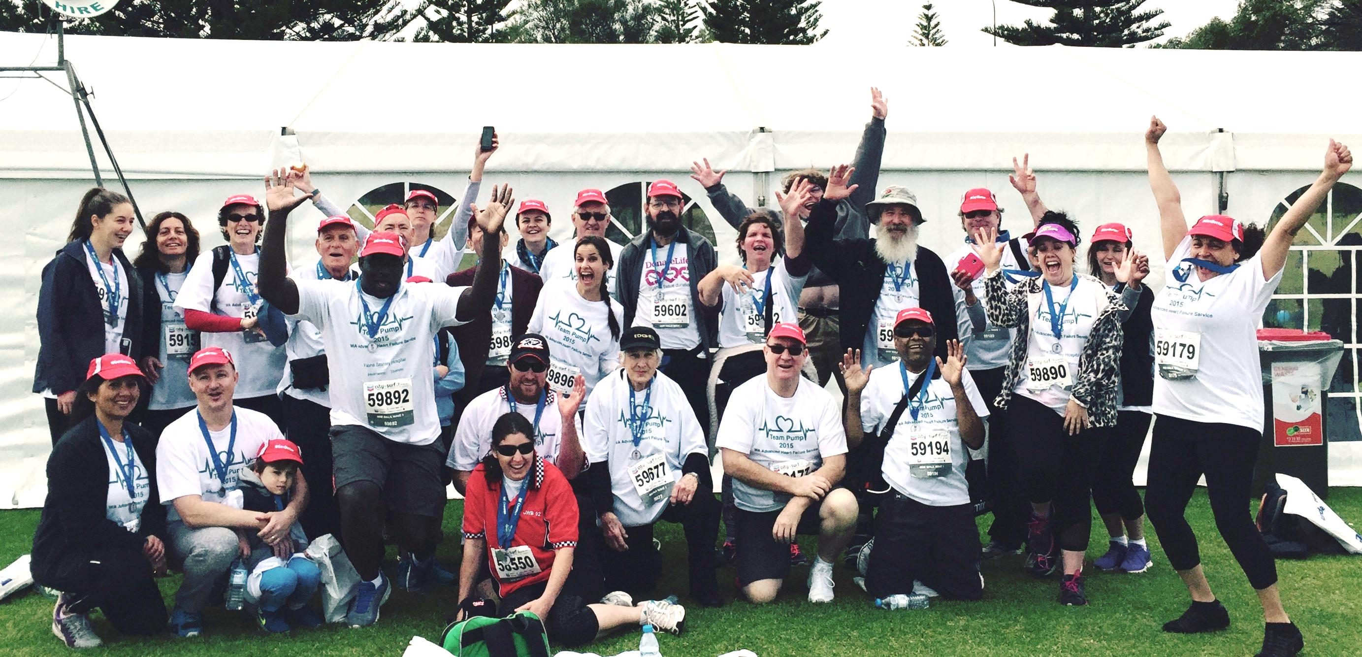 Patients, carers and staff complete the 2015 City to Surf
