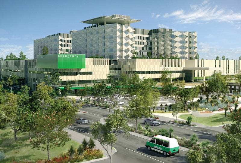 Artist's impression of Fiona Stanley Hospital South East entrance