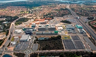 Aerial view of Fiona Stanley Hospital October 2013