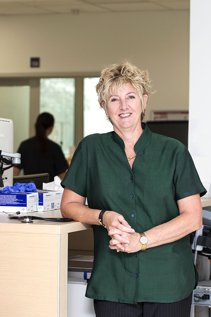 Penny Keogh standing at a ward station