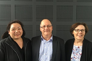 Standing from left to right: Researchers Dr Anita Chua, Prof John Olynyk and A/Prof Debbie Trinder